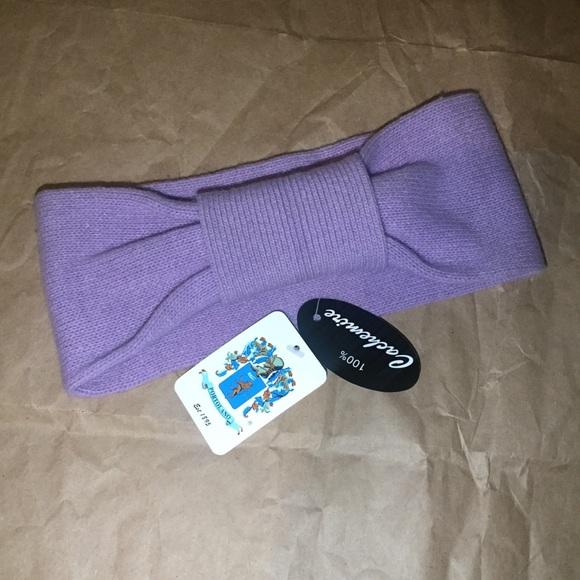 100% Cashmere Bow headband